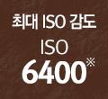 최고 ISO 감도 ISO 6400※