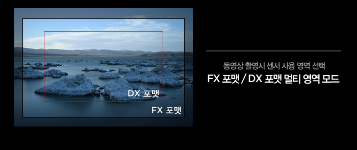 동영상 촬영시 센서 사용 영역 선택 FX 포맷 / DX 포맷 멀티 영역 모드