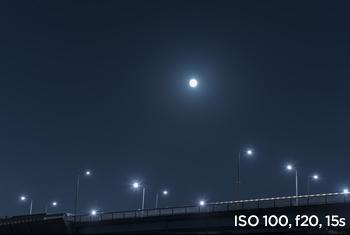 샘플사진 ISO 100, f20, 15s